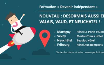 """Extension de notre formation """"Devenir indépendant"""" sur Vaud, Valais et Neuchâtel !"""